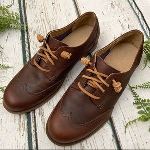 Sperry Topsider Brown Tan Leather Loafer Shoes 7.5